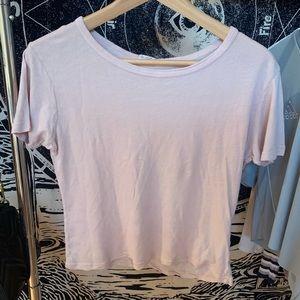 Brandy Melville RARE light pink t-shirt